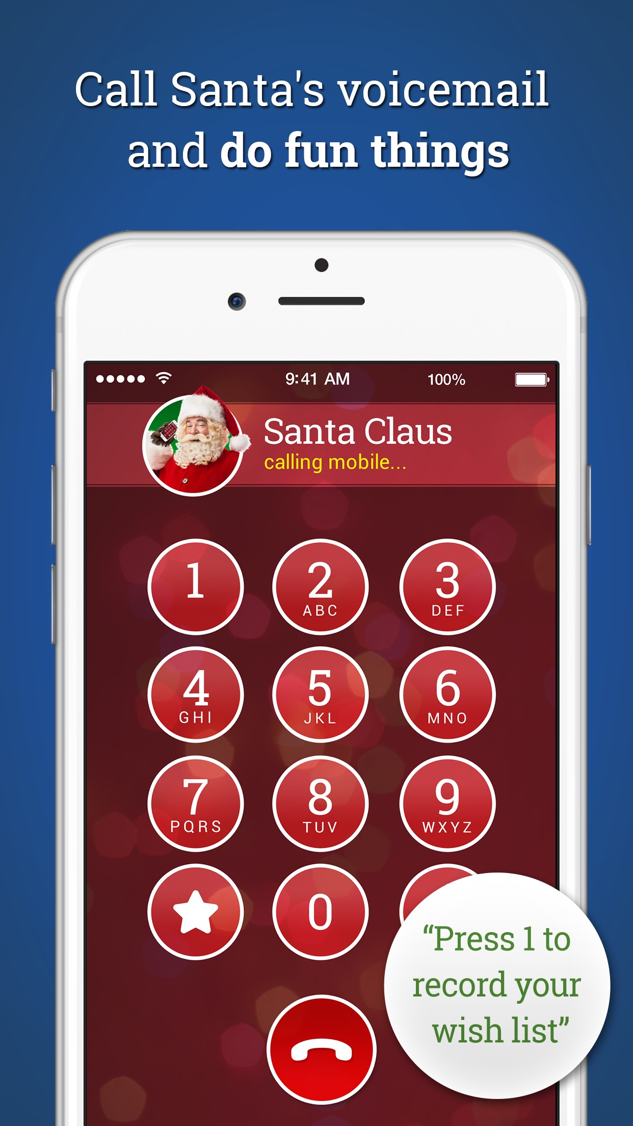 A Call From Santa! Voicemail & Text Messages Screenshot