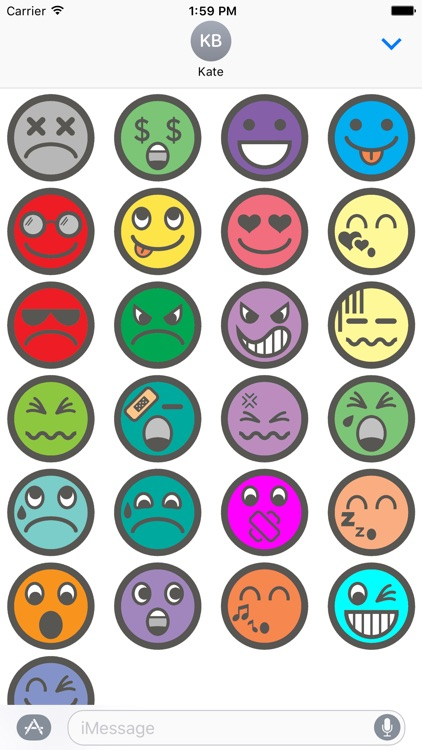 Colorful Emoji / Emoticon Stickers for iMessage