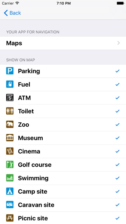 Leisuremap Iceland, Camping, Golf, Swimming, Car parks, and more screenshot-4