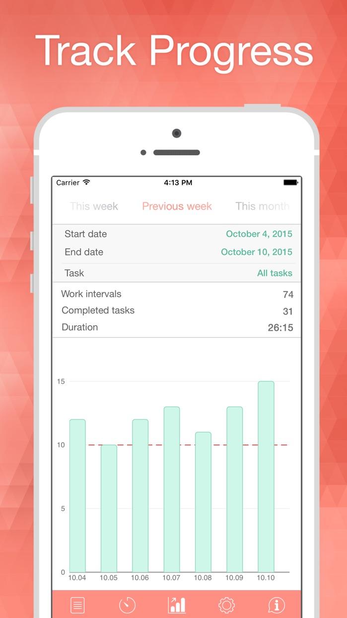 Be Focused - Focus Timer & Goal Tracker for work Screenshot