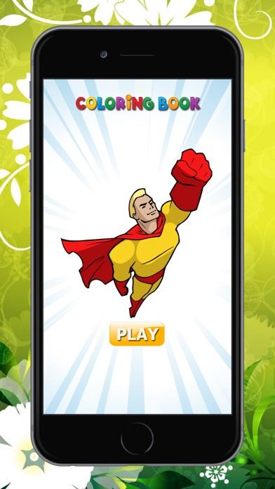 superhéroe Libro de colorear HD: Pintar para niños 1.0 para iOS ...