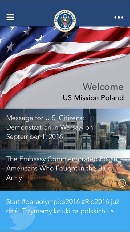 US Embassy Poland Mobile