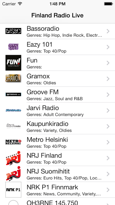 Finland Radio Live (Suomen Kieli, Finnish, Swedish,