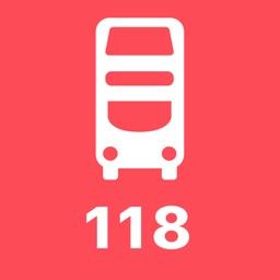 My London TFL Bus Times - 118
