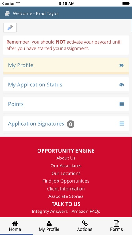 Integrity Employee Portal screenshot-1