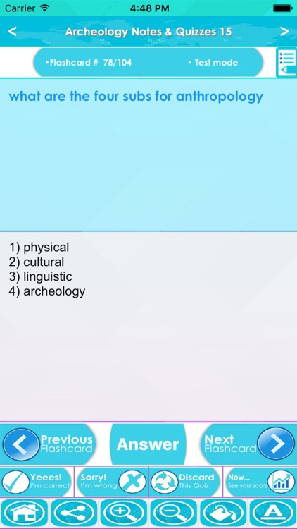 Archeology Test Bank App- Terms,Concepts & Quizzes screenshot-2
