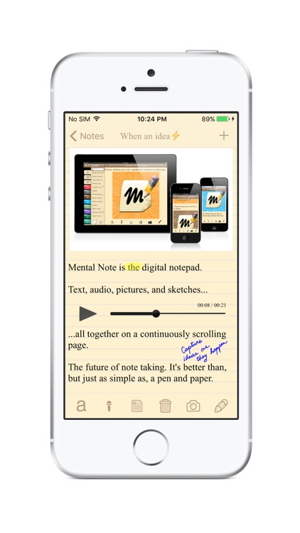Mental Note - the digital notepad