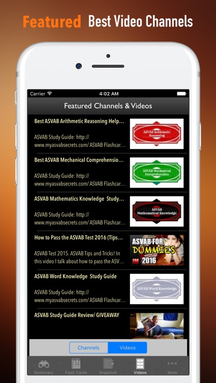 ASVAB Vocabulary-Courses and Flashcard