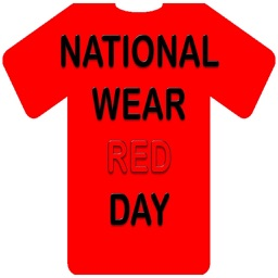 Happy National Wear Red Day Stickers