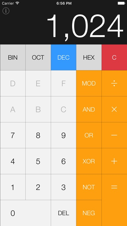 Hex Calc - simple pocket calculator