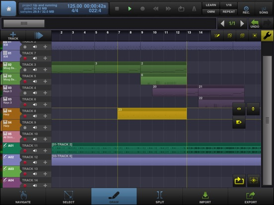 BeatMaker 2 - Audio & Music Production/Composition Screenshot