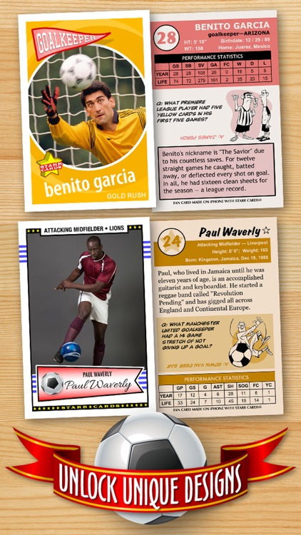 Soccer Card Maker - Make Your Own Custom Soccer Cards with Starr Cards