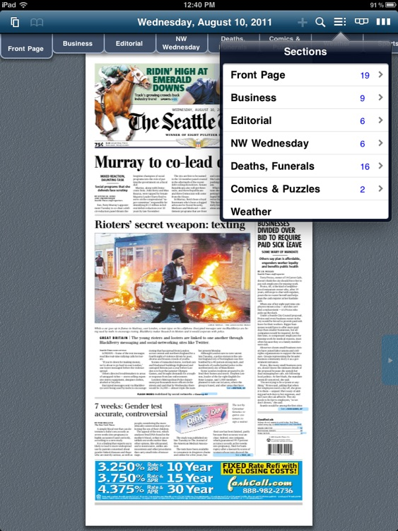 The Seattle Times Print Replica screenshot-2