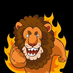 Lion Stickers - Wild Predator Emoji Set for Chat