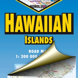 Hawaiian Islands. Road map.