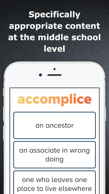 Middle School Vocabulary Challenge screenshot-3