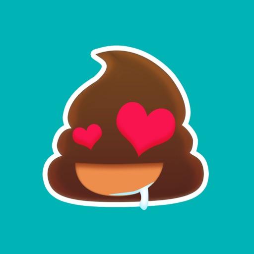 Poo Emoji Sticker - Animated Gif for iMessage Free