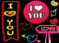 I Love You Stickers and Labels for iMessage