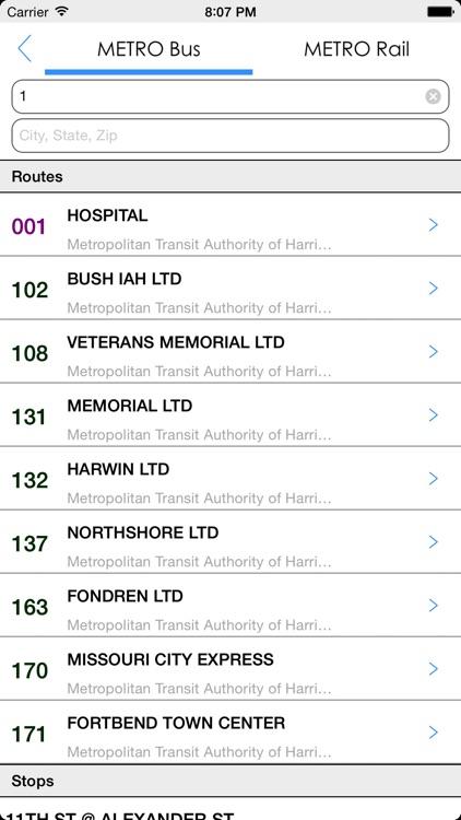Transit Tracker - Houston (METRO) screenshot-4