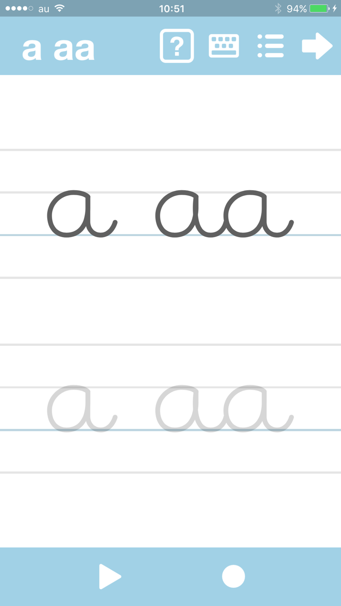 Cursive Writing App - abCursive 4 Screenshot