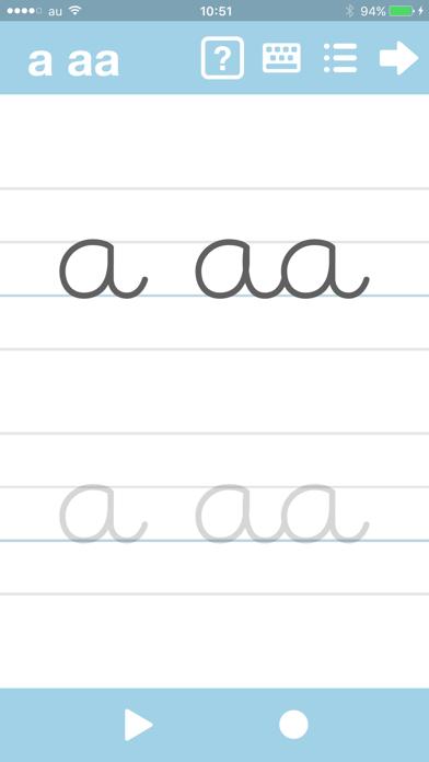 筆記体が書けるようになるアプリ abCur... screenshot1