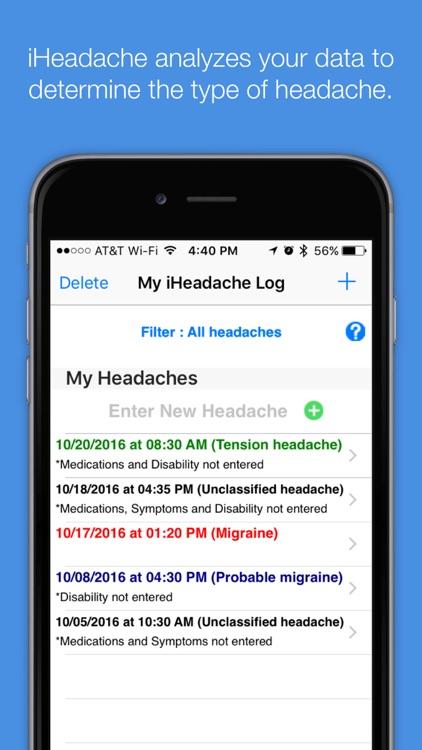 iHeadache - Headache & Migraine Diary