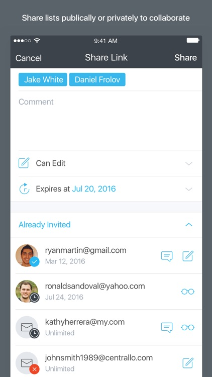 Centrallo – Organize and Share Lists screenshot-3