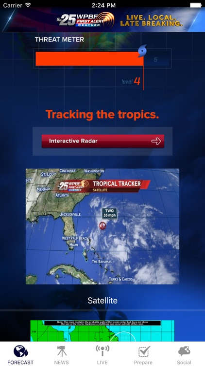WPBF 25 Hurricane Tracker screenshot-0