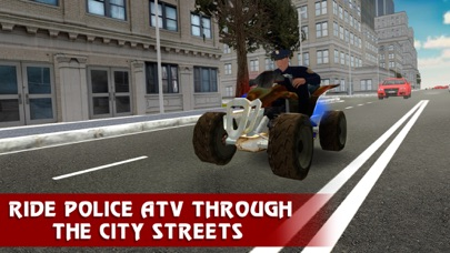 Police ATV Simulator: City Quad Bike Racing Full screenshot one