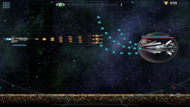 side scrolling space shooter ipad