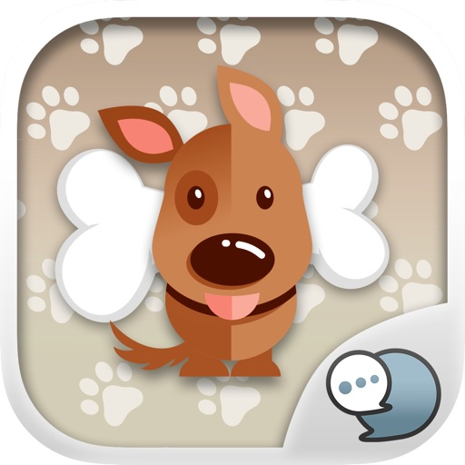 Cute Puppy Emoji Sticker Keyboard Themes ChatStick