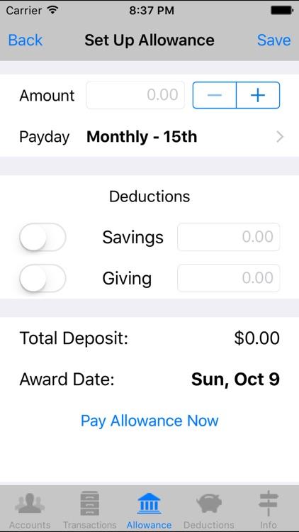 Kid Bank - Virtual Banking for Kids screenshot-3