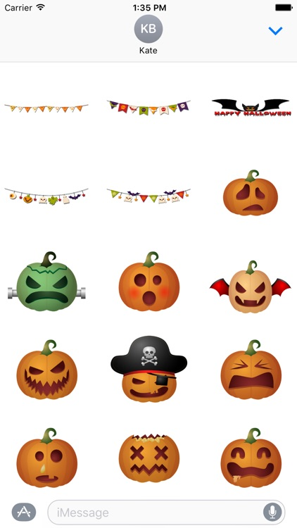 Halloween Stickers and Texts