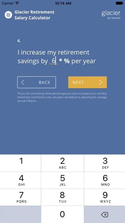 Glacier Retirement Salary Calculator