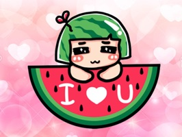Watermelon Girl stickers pack