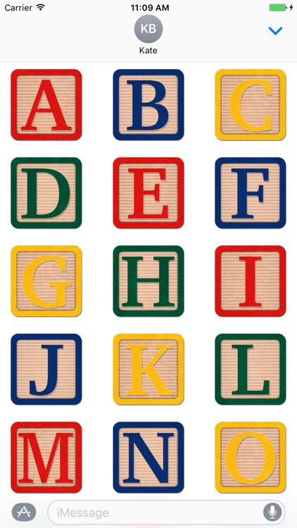 Alphabet Blocks Stickers