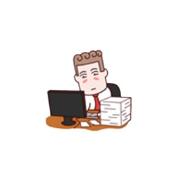 Animated Hard Working Collegue Sticker Pack