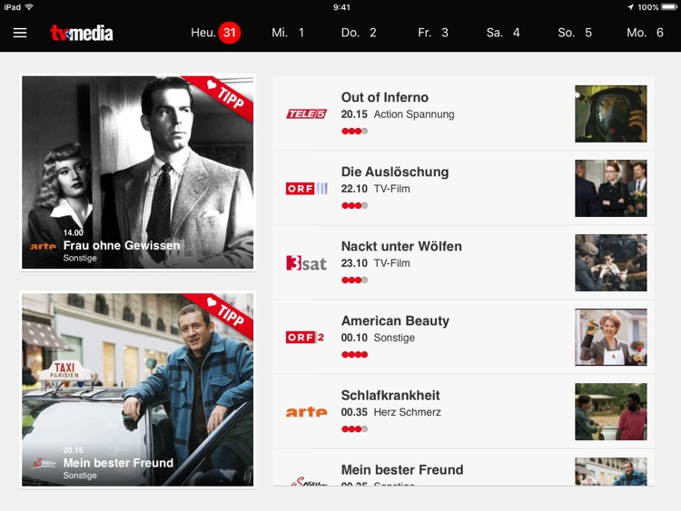 TV-MEDIA das beste TV Programm