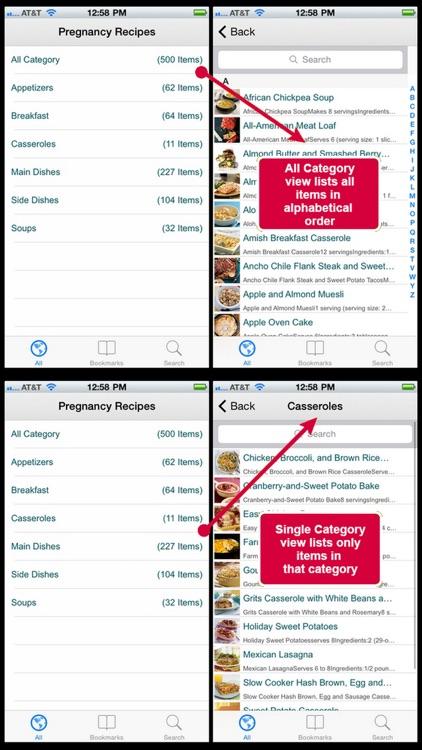 Pregnancy Recipes Plus+ screenshot-3