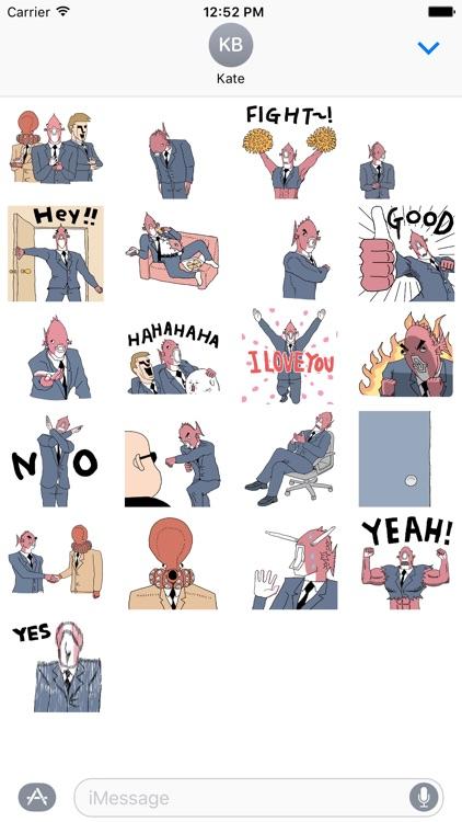 Business Fish Animated Sticker