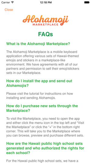 ‎Alohamoji Marketplace Screenshot