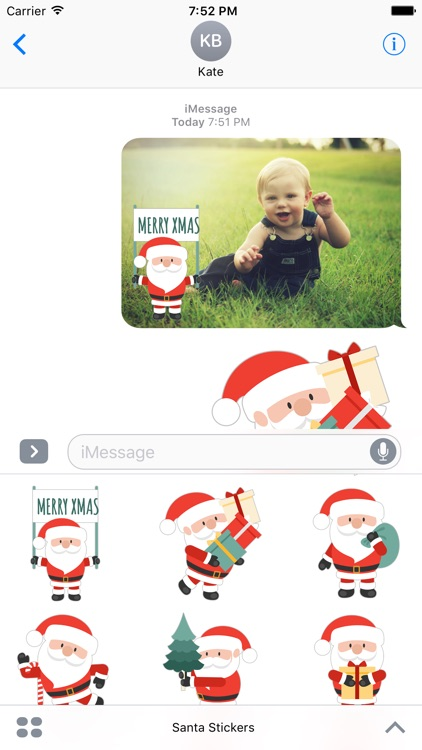 Cute Santa Claus - Adorable Stickers and Emojis