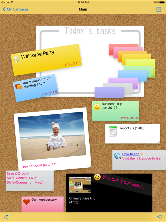 lino - Sticky and Photo Sharing for you Screenshot 1