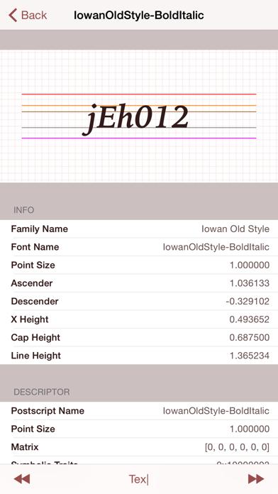 FontCatalog ScreenShot1