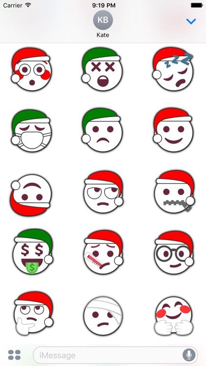 Christmas Emoji • Stickers for iMessage screenshot-3