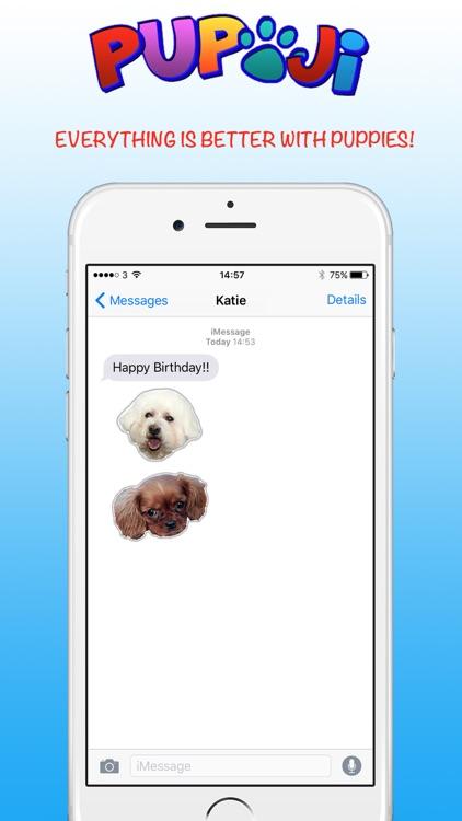 Pupoji - Cute Dog Emoji Keyboard Puppy Face Emojis screenshot-4