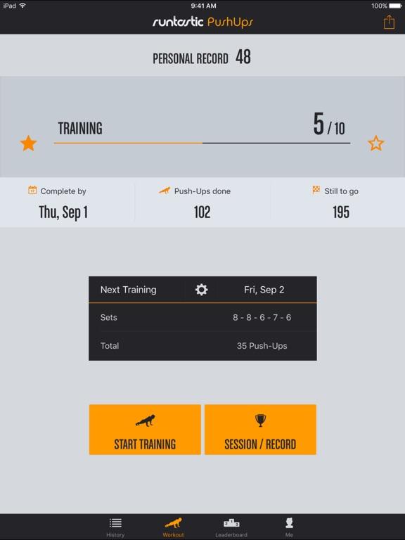 Runtastic Push-Ups PRO Trainer Screenshots