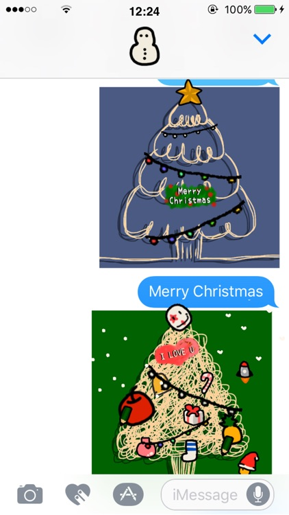 Christmas Tree Craft GIF stickers screenshot-0