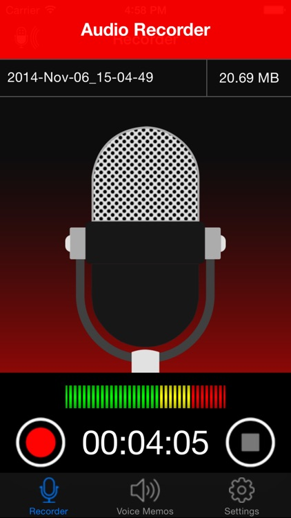 Voice Recorder Lite: HD Audio Recording & Playback screenshot-0