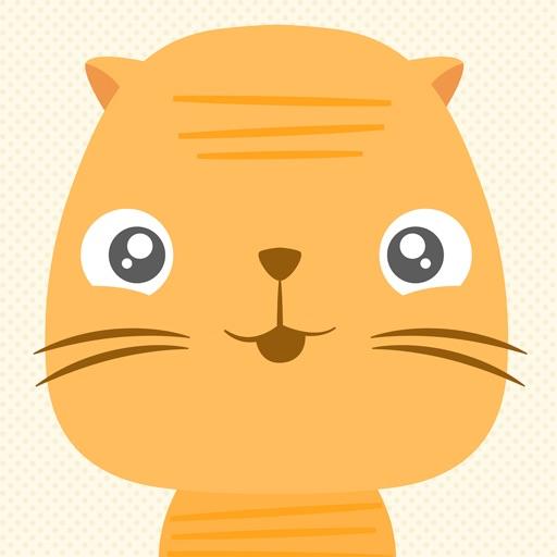 Ōji Momo - Cute animated cat stickers
